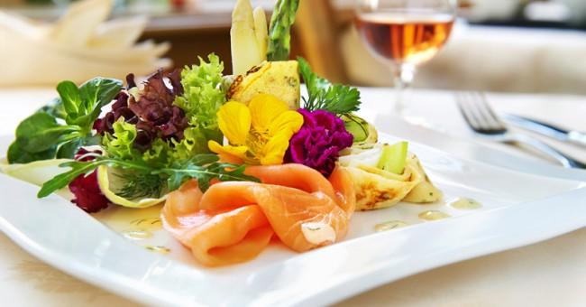 Hotel Adlerbad;Gallerie Ortenau;Food;Restaurant;Lachs