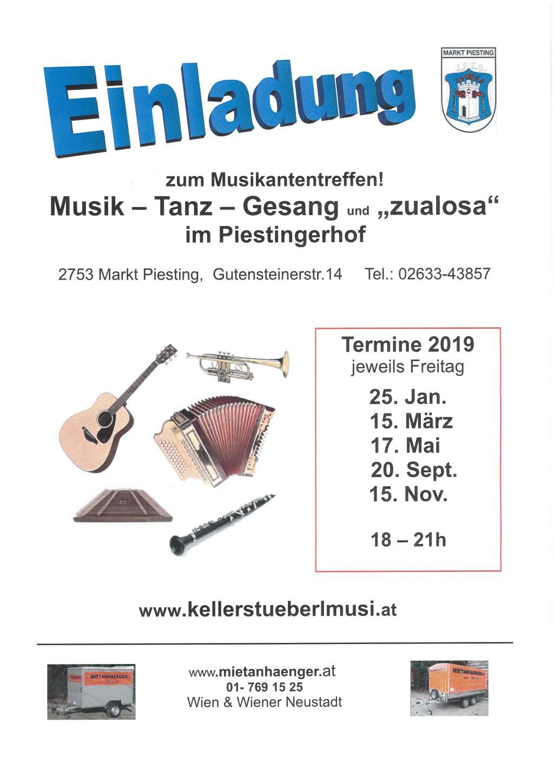 """Musikantentreffen – Musik, Tanz, Gesang und """"zualosa"""""""