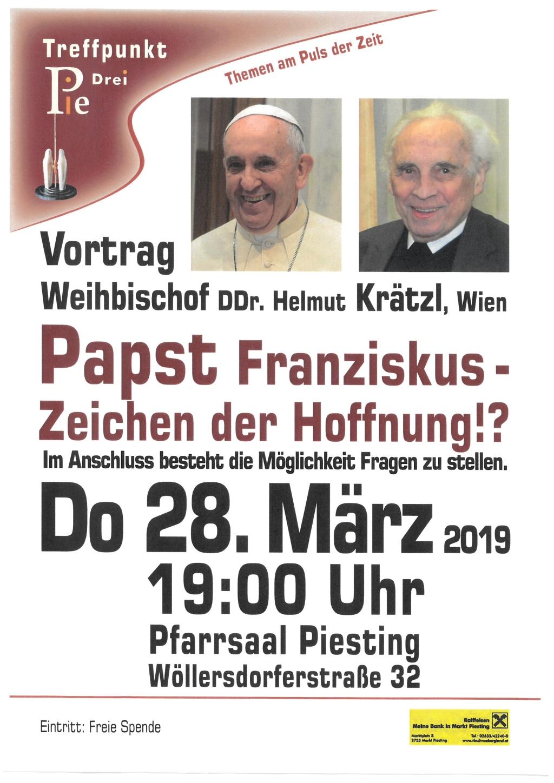 """Vortrag """"Papst Franziskus – Zeichen der Hoffnung!?"""""""
