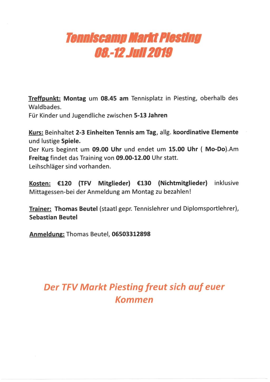 Tenniscamp Markt Piesting