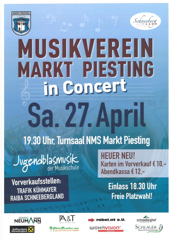 Musikverein Markt Piesting in Concert