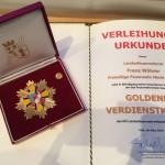 Das Goldene Verdienstkreuz des NÖ Landesfeuerwehrverbandes