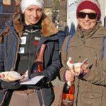 Silvesterlauf 2016 - Sieger der Damen, v.l.n.r. Anna Swoboda und Renate Braimeier