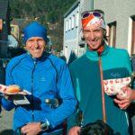 Silvesterlauf 2016 - Sieger der Herren, v.l.n.r. Gregor Goldmann, Wolfgang Wallner, Bernd Fleischmann und Bgm. Roland Braimeier