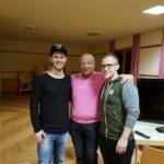 Siegesfoto von links nach rechts: Philipp Hatzl, Obmann Peter Sheldon und Florian Breimaier