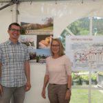 DI Matthias Schlager und DI Brigitte Hozang (Verein Obst im Schneebergland), welche über ihren Verein Obst im Schneebergland referierte und den geplanten Obstweg Markt Piesting erklärte .