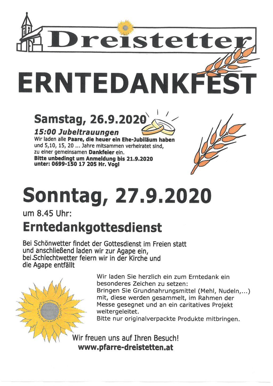 Erntedankfest 2021 Datum