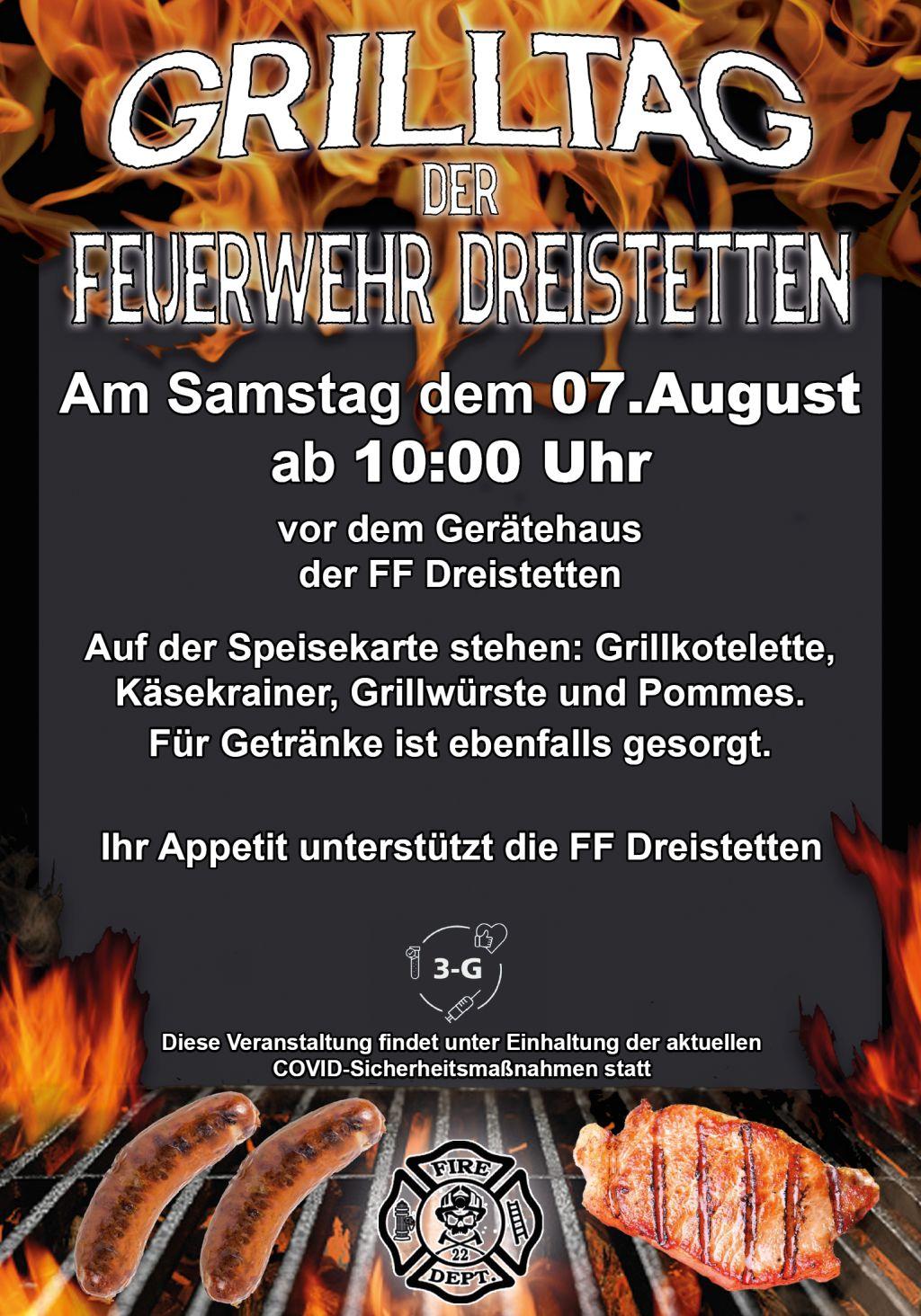 Grilltag Feuerwehr Dreistetten